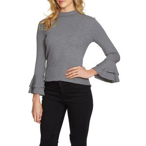 NWT Nordstrom 1.STATE Knit Tiered Bell Sleeve Top